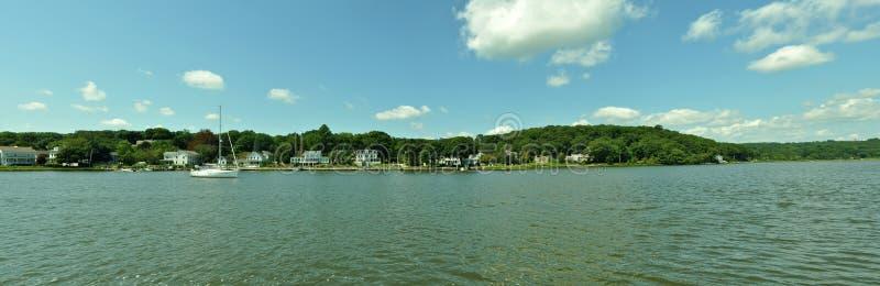Het Panorama van het meer stock foto's