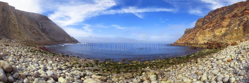 Het panorama van het Strand van Lagosteiros stock afbeelding