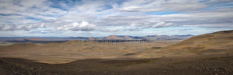 Het panorama van IJsland stock afbeelding