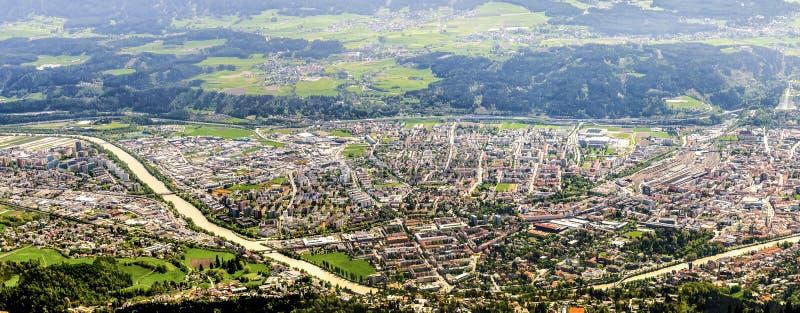 Het panorama van Innsbruck stock foto's