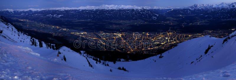 Het Panorama van Innsbruck royalty-vrije stock foto's