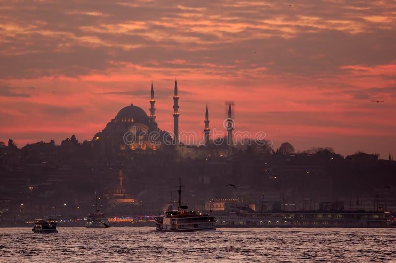 Het Panorama van Istanboel royalty-vrije stock fotografie