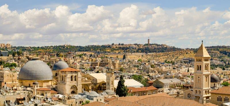 Het Panorama van Jeruzalem van Citadel royalty-vrije stock foto's
