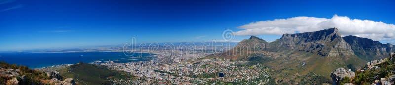 Het Panorama van Kaapstad stock foto's