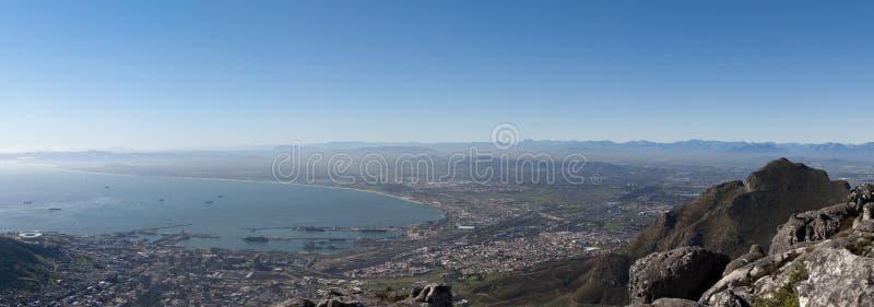 Het Panorama van Kaapstad stock afbeeldingen