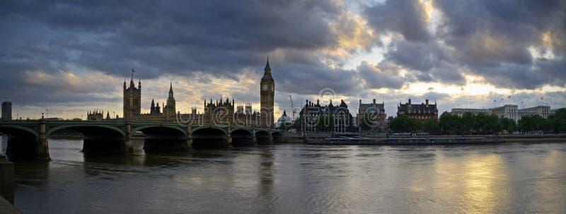 Het panorama van Londen stock afbeeldingen