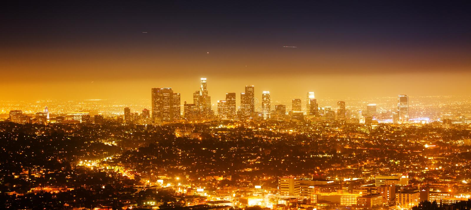 Het panorama van Los Angeles stock fotografie