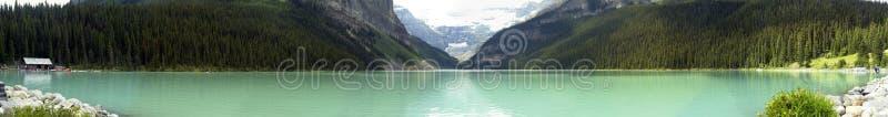 Het Panorama van Louise van het meer stock foto's