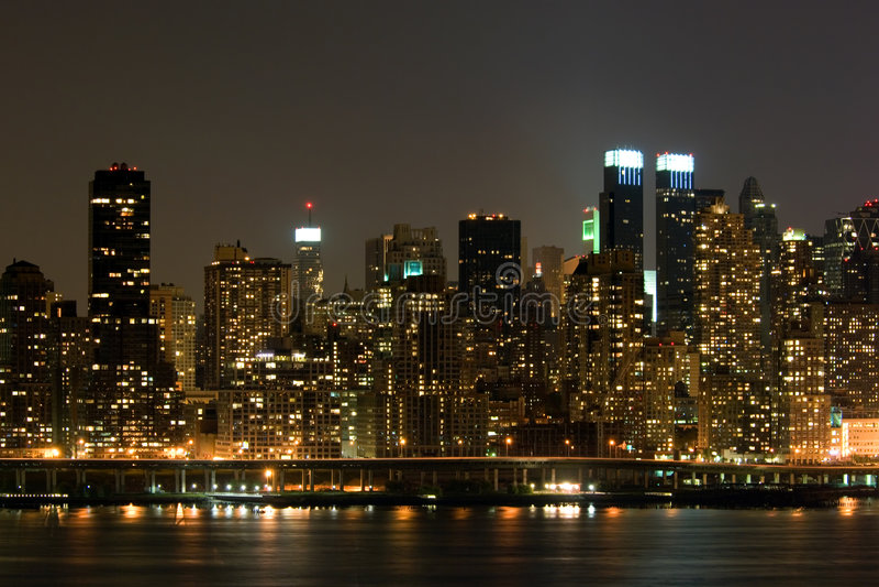 Het panorama van Manhattan stock foto