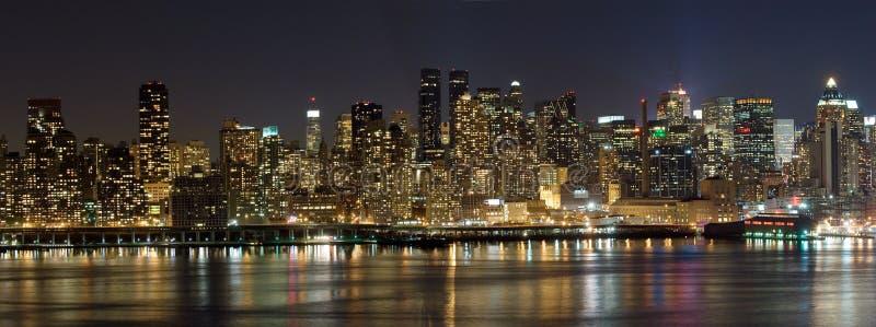 Het panorama van Manhattan stock foto's