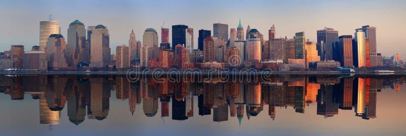Het Panorama van Manhattan, de Stad van New York royalty-vrije stock afbeeldingen