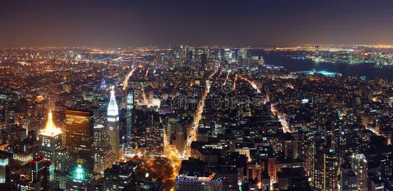 Het panorama van Manhattan van de Stad van New York royalty-vrije stock foto
