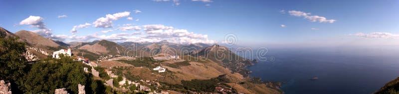 Het panorama van Maratea stock foto's