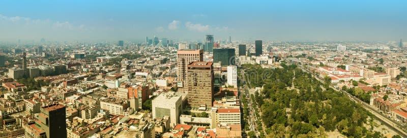 Het Panorama van Mexico-City stock afbeelding