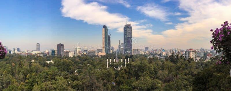 Het Panorama van Mexico-City Reforma stock foto