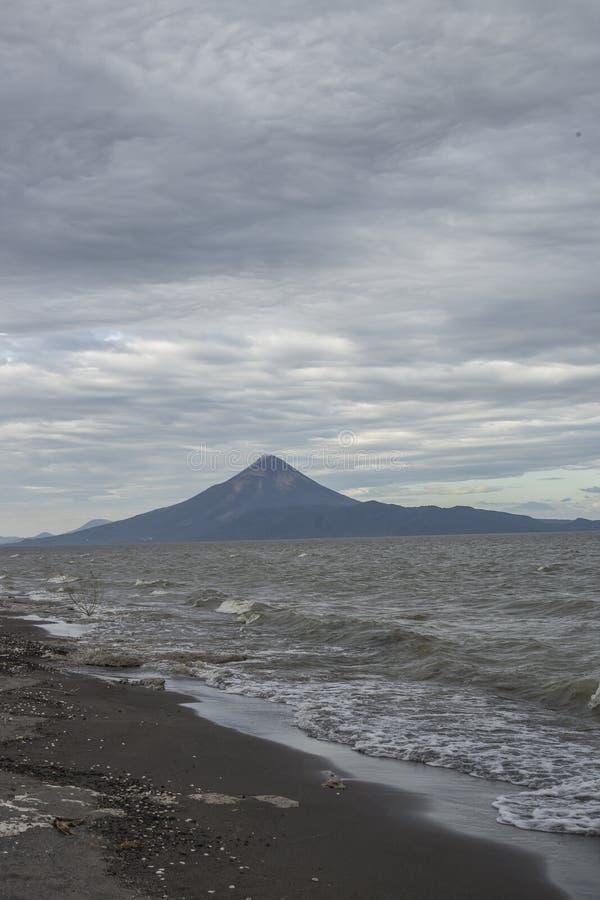 Het panorama van Momotombovulcano, Leon stock fotografie