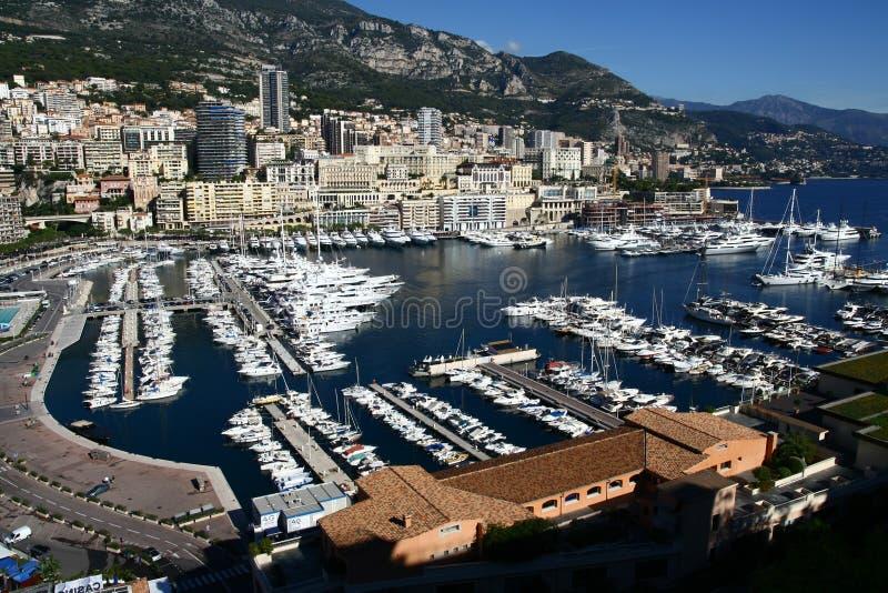 Het panorama van Monaco stock afbeeldingen