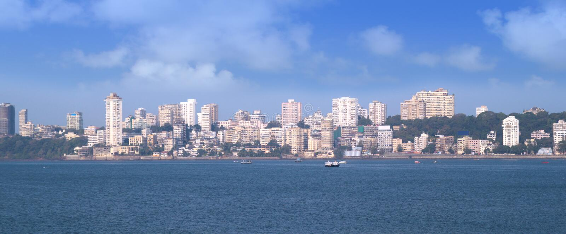 Het panorama van Mumbai royalty-vrije stock afbeelding