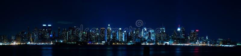 Het Panorama van New York - de Horizon van Manhattan stock fotografie