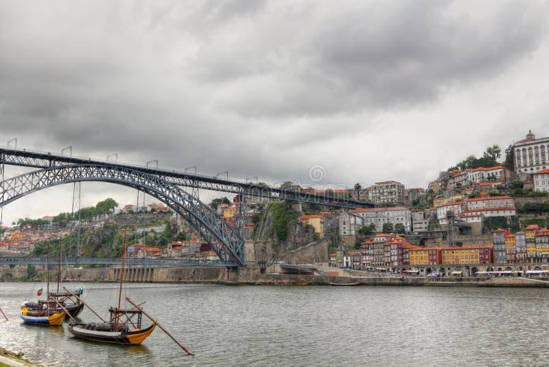 Het panorama van Porto, Portugal stock foto's