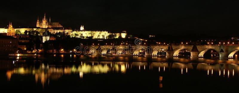 Het panorama van Praag stock foto