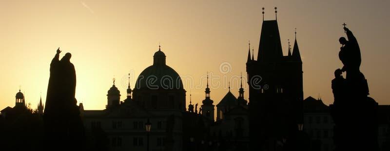 Het panorama van Praag stock fotografie