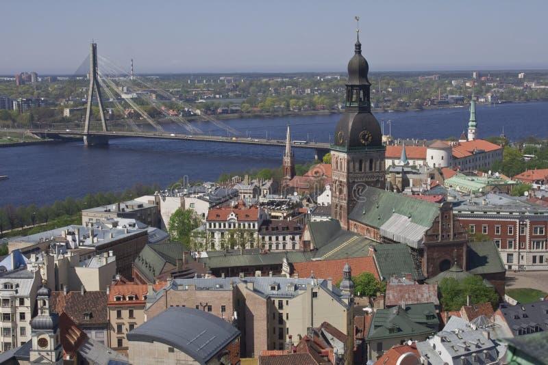 Het panorama van Riga royalty-vrije stock afbeelding