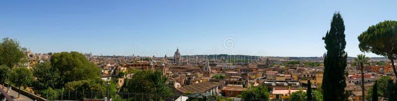 Het panorama van Rome van Villa Borghese royalty-vrije stock foto