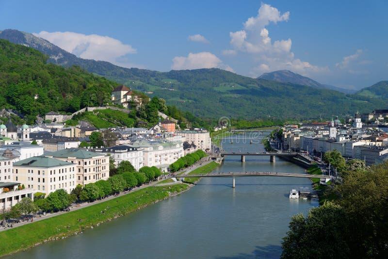 Het Panorama van Salzburg royalty-vrije stock afbeeldingen