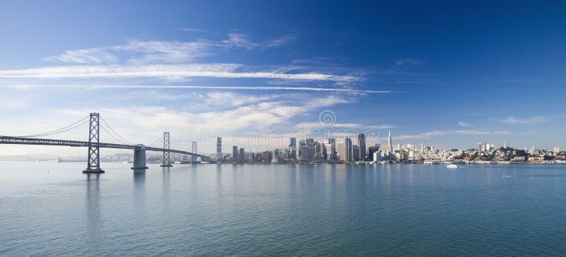 Het Panorama van San Francisco stock afbeeldingen