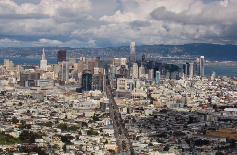 Het panorama van San Francisco stock foto's