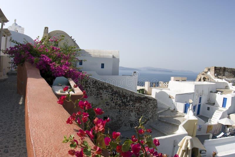 Het panorama van Santorini royalty-vrije stock afbeeldingen