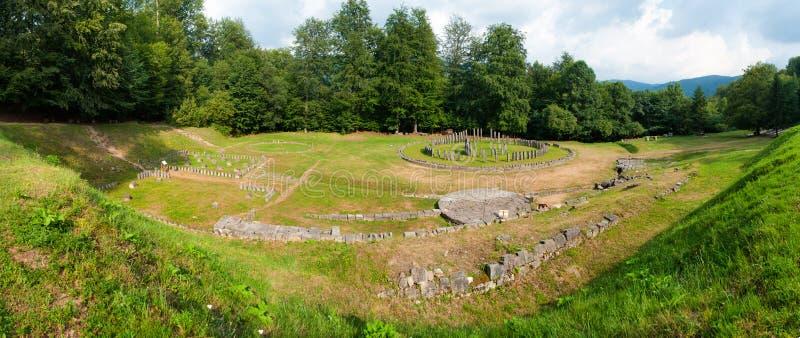Het Panorama van Sarmizegetusaregia stock foto