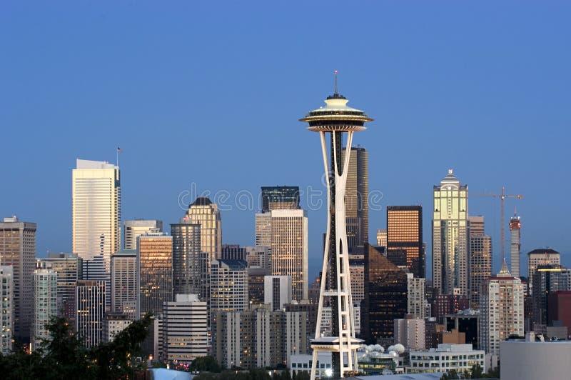 Het panorama van Seattle stock afbeelding