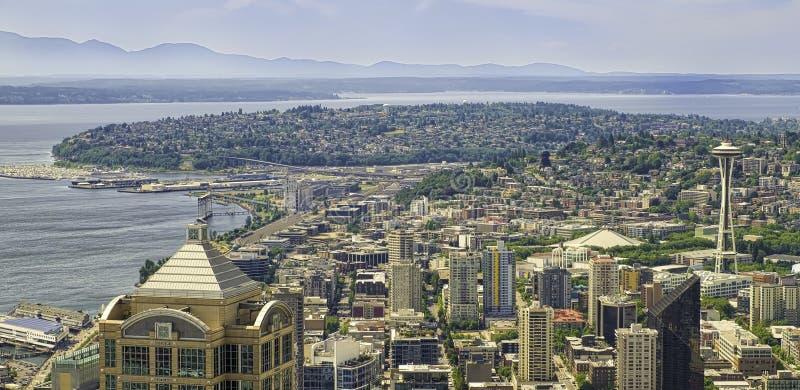 Het Panorama van Seattle, Washington royalty-vrije stock foto's