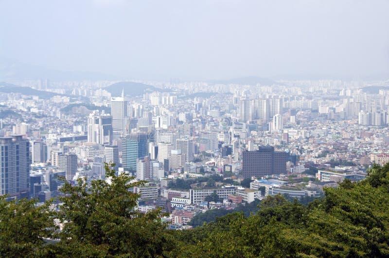 Het panorama van Seoel royalty-vrije stock afbeeldingen