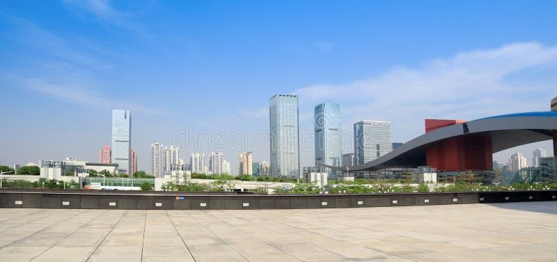 Het panorama van shenzhen stad stock foto's