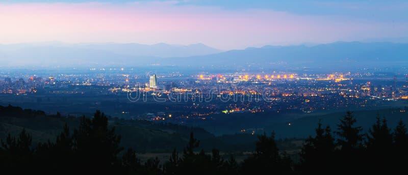 Het panorama van Sofia stock afbeeldingen