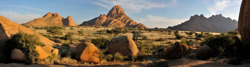 Het panorama van Spitzkoppe stock foto's