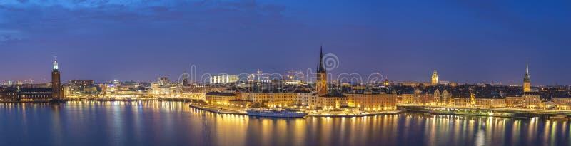 Het panorama van Stockholm Zweden royalty-vrije stock fotografie