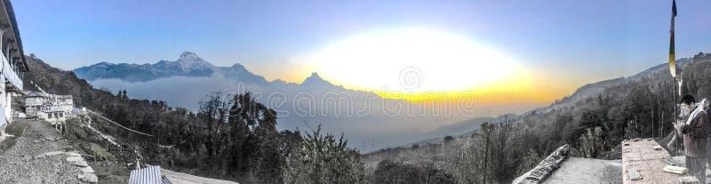 Het panorama van Tarapaninepal royalty-vrije stock foto's