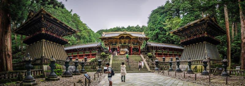 Het Panorama van het Toshoguheiligdom, Nikko, Tochigi-Prefectuur, Japan stock fotografie