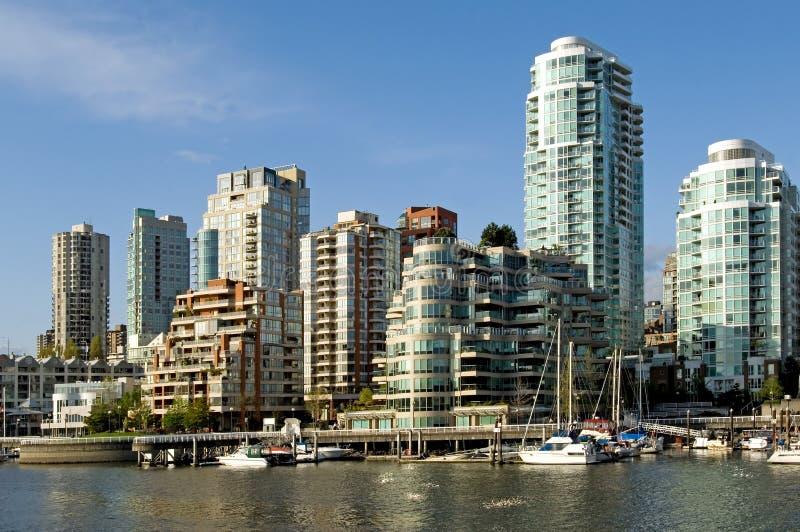Het panorama van Vancouver stock afbeeldingen