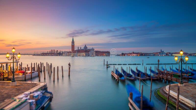 Het panorama van Venetië in de ochtend stock fotografie