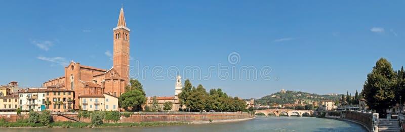 Het panorama van Verona royalty-vrije stock afbeelding