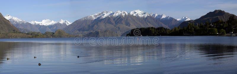 Het Panorama van Wanaka van het meer stock fotografie