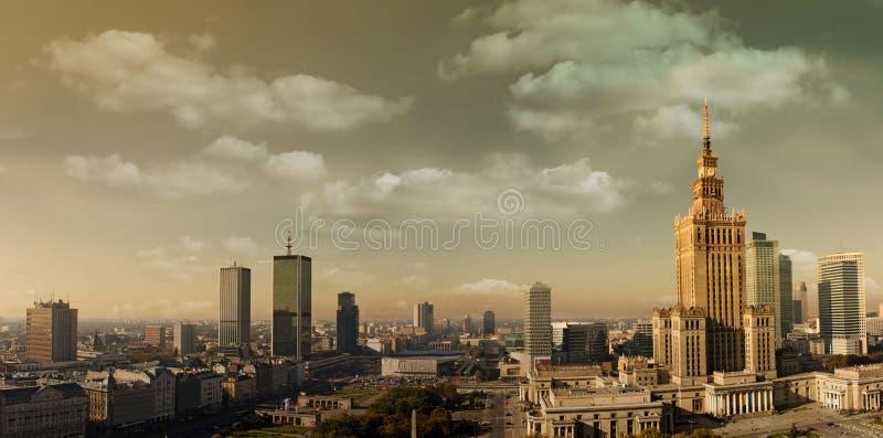 Het panorama van Warshau royalty-vrije stock foto