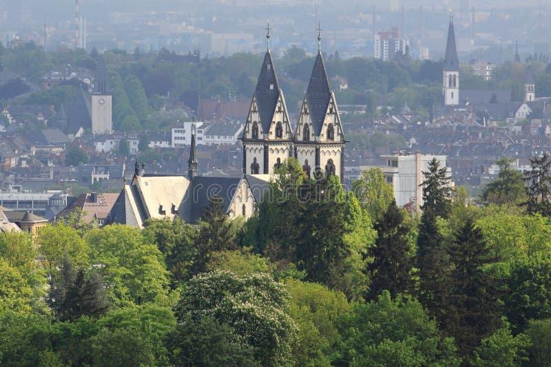 Het panorama van Wiesbaden stock foto