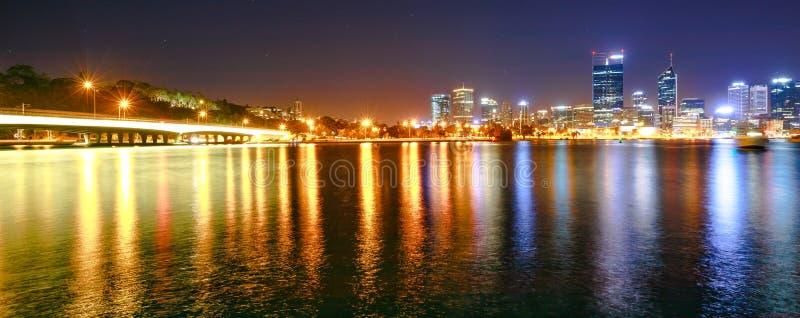 Het panorama versmalt Brug Perth stock fotografie