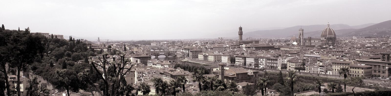 Het panoramamening van Florence (Florence) royalty-vrije stock foto